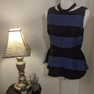 Banana Republic Striped Peplum Tank